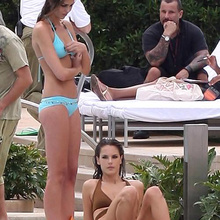 Exclusive: Alessandra Ambrosio Doing Her First Swimsuit Photo Sh