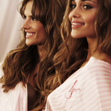 Alessandra Ambrosio, Ana Beatriz Barros== 2009 Victoria's Secret Fashion Show - Backstage== The Armory, NYC== October 19, 2009== © Patrick McMullan== Photo - DAVID X PRUTTING / PatrickMcMullan.com== ==