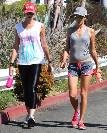 10-11 Alessandra Ambrosio and Ana Beatriz Barros work out in Los Angeles